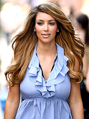 kim kardashian hair colour